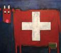 Croix suisse bleue